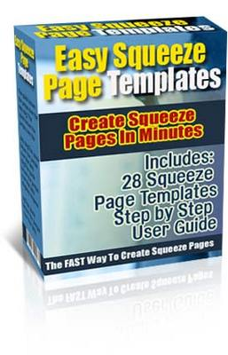 Product picture Easy Squeeze Page Templates (PLR)