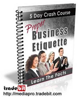 Product picture Proper Business Etiquette (PLR)